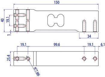 SPG_dis Off center- SPG: Loadcell đơn, cấp chính xác C6 Cảm biến tải DiniArgeo